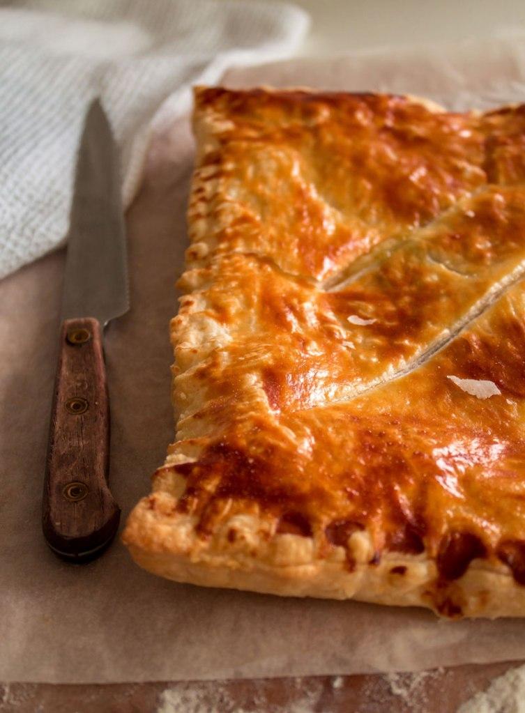 Ham And Cheese Puff Pastry Pie Recipe — Dishmaps